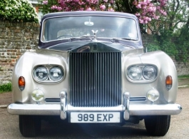 Classic 1960s Rolls Royce for weddings in Richmond